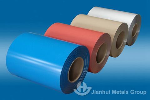 Anti-scratch color coated aluminum coil